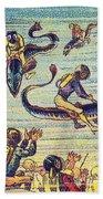 Underwater Race, 1900s French Postcard Bath Towel