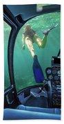 Underwater Ship In Coral Reef Bath Towel