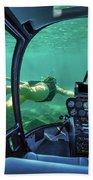 Underwater Submarine Woman Bath Towel