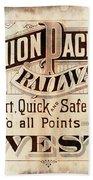Union Pacific Railroad - Gateway To The West  1883 Bath Towel