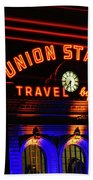 Union Station Lights Bath Towel