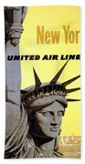 United Airlines  Bath Towel