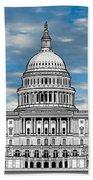 United States Capitol Building Bath Towel