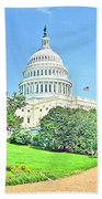 United States Capitol - Washington Dc Bath Towel
