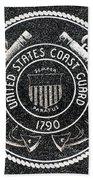 United States Coast Guard Emblem Polished Granite Bath Towel