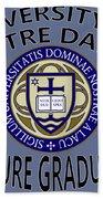 University Of Notre Dame Future Graduate Bath Towel