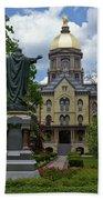 University Of Notre Dame Main Building Bath Towel