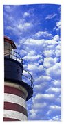 Unmistakable In Any Weather - West Quoddy Head Lighthouse Bath Towel