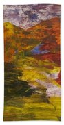 Untitled 113 Original Painting Bath Towel