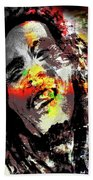Untitled Reduction 3 Bob Marley Hand Towel