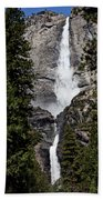 Upper And Lower Yosemite Falls Bath Towel
