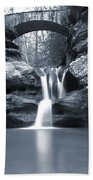 Upper Falls Hocking Hills Ohio Bath Towel