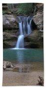 Upper Falls In Hocking Hills Bath Towel