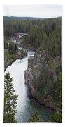 Upper Yellowstone Falls Bath Towel