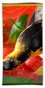 Upside Down Oriole Bath Towel