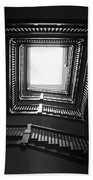 Upstairs- Black And White Photography By Linda Woods Bath Towel
