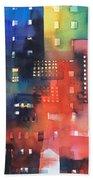 urban landscape 8 - Shadows and lights Bath Towel
