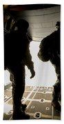 U.s. Army Green Berets Wait To Jump Bath Towel