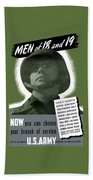 Vintage Us Army Recruiting Poster Bath Towel