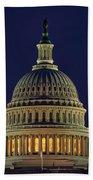U.s. Capitol At Night Bath Towel