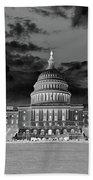 Us Capitol Washington Dc Negative Bath Towel