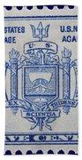Us Naval Academy Postage Stamp Hand Towel