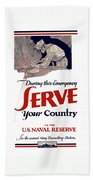Us Naval Reserve Serve Your Country Bath Towel
