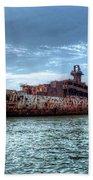 Usns American Mariner - Target Ship, Chesapeake Bay, Maryland Bath Towel