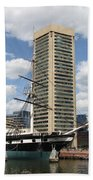 Uss Constellation - Baltimore Inner Harbor Bath Towel