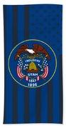 Utah State Flag Graphic Usa Styling Bath Towel
