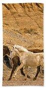 Ute Mountain Wild Horses On The Run Bath Towel