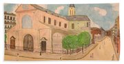 Utrillo And Church Seasonal Change In Paris By Japanese Artist Bath Towel