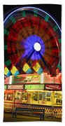 Vacant Carnival Bench Hand Towel