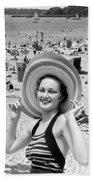 Vacation Montage, C.1930s Bath Towel