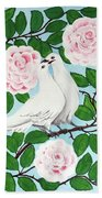 Valentine Doves Bath Towel