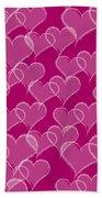 Valentine Hearts Pattern Bath Towel