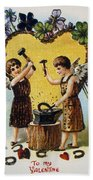 Valentines Day Card, 1900 Bath Towel