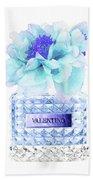 Valentino Blue Perfume Bath Towel