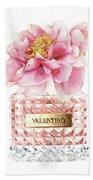 Valentino Pink With Peony Bath Towel