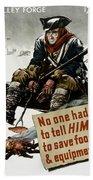 Valley Forge Soldier - Conservation Propaganda Bath Towel