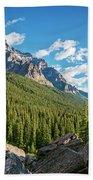 Valley Near Moraine Lake Banff Bath Towel