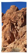 Valley Of Fire Elephant Rock Bath Towel