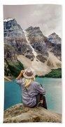 Valley Of The Ten Peaks Bath Towel by Rod Sterling