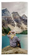 Valley Of The Ten Peaks Bath Sheet by Rod Sterling