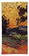 Van Gogh: Castle, 1890 Hand Towel