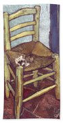 Van Gogh: Chair, 1888-89 Bath Towel