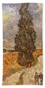 Van Gogh: Cypresses, 1889 Bath Towel