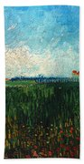Van Gogh: Landscape, 1888 Bath Towel