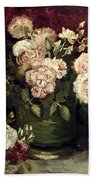 Van Gogh: Roses, 1886 Bath Towel