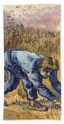 Van Gogh: The Reaper, 1889 Bath Towel